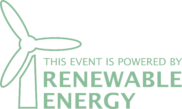 Event powered by renewable energy